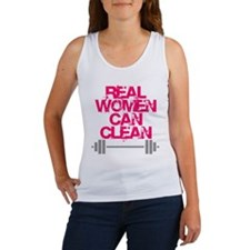 Real Women Can Clean (Pink) Women's Tank Top