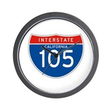 Interstate 105 - CA Wall Clock