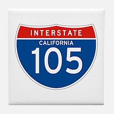 Interstate 105 - CA Tile Coaster