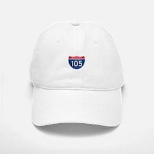 Interstate 105 - CA Baseball Baseball Cap