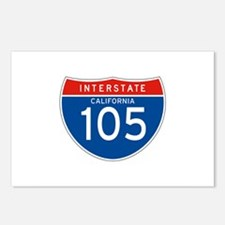 Interstate 105 - CA Postcards (Package of 8)