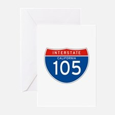 Interstate 105 - CA Greeting Cards (Pk of 10)
