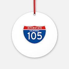 Interstate 105 - CA Ornament (Round)