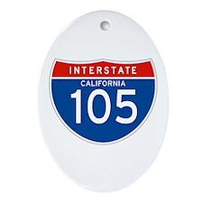 Interstate 105 - CA Oval Ornament