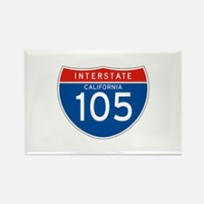 Interstate 105 - CA Rectangle Magnet