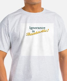 Banned Books Ignorance  Ash Grey T-Shirt
