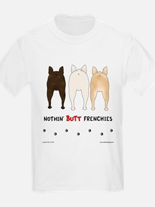 Nothin' Butt Frenchies Kids T-Shirt