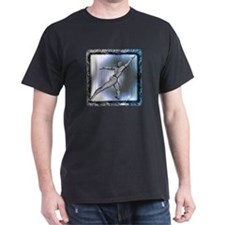 Men's Lunging Dancer in Dark Colors T-Shirt