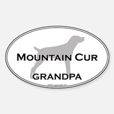 Mountain Cur GRANDPA Oval Decal
