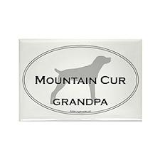 Mountain Cur GRANDPA Rectangle Magnet