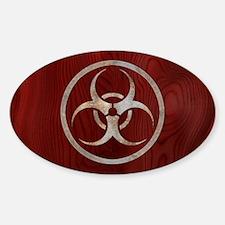 Corroded Biohazard Sticker (Oval)