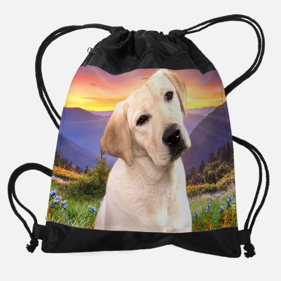 Labrador Meadow (blanket) Drawstring Bag