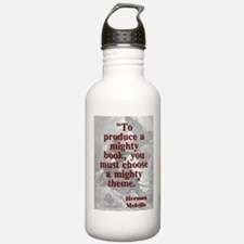 To Produce A Mighty Book - Melville Water Bottle