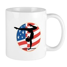 USA Stars and Stripes Gymnastics Design Mug