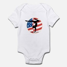 USA Stars and Stripes Gymnastics Design Infant Bod