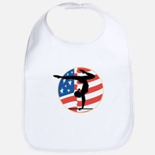 USA Stars and Stripes Gymnastics Design Bib