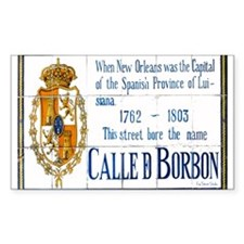 Rue Bourbon Tiles Rectangle Decal