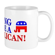 """Hung Like A Republican!"" Mug"