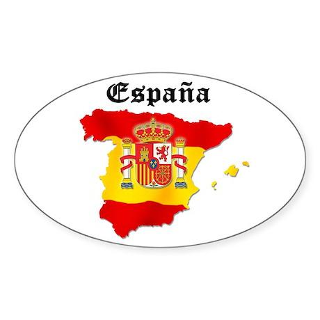 España Oval Sticker