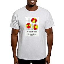 numbers juggler Ash Grey T-Shirt