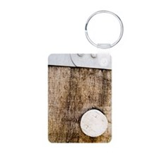 Detail of Barrel and Cork Keychains