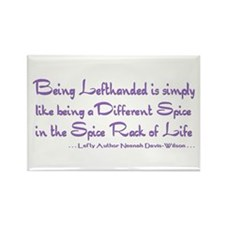 Being Lefthanded Rectangle Magnet purple 100 pack