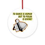 Divine Polka Ornament (Round)