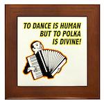 Divine Polka Framed Tile