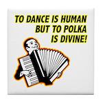 Divine Polka Tile Coaster