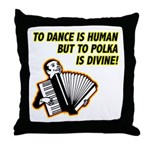 Divine Polka Throw Pillow