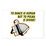 Divine Polka Postcards (Package of 8)