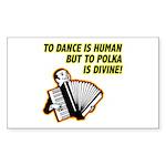 Divine Polka Rectangle Sticker