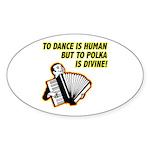 Divine Polka Oval Sticker