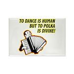 Divine Polka Rectangle Magnet