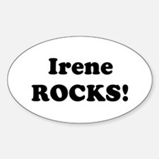 Irene Rocks! Oval Decal