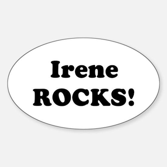Irene Rocks! Oval Decal
