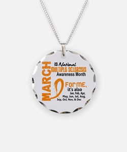 MS Month For Me Necklace Circle Charm