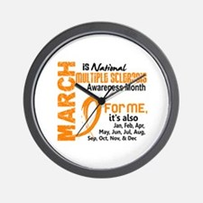 MS Month For Me Wall Clock