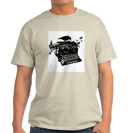 Typewriter Ash Grey T-Shirt