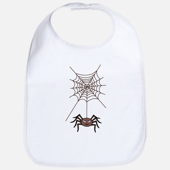 Spider hanging from Web Bib