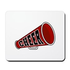 Red Cheer Megaphone Mousepad