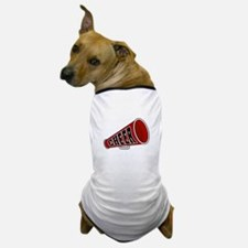 Red Cheer Megaphone Dog T-Shirt