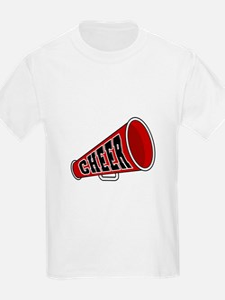 Red Cheer Megaphone Kids T-Shirt