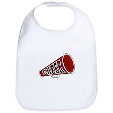 Red Cheer Megaphone Bib