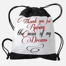 Man of my dreams Mother in law Drawstring Bag