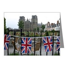 Bunting on railings in front Note Cards (Pk of 20)