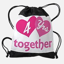 Unique Fourth anniversary Drawstring Bag