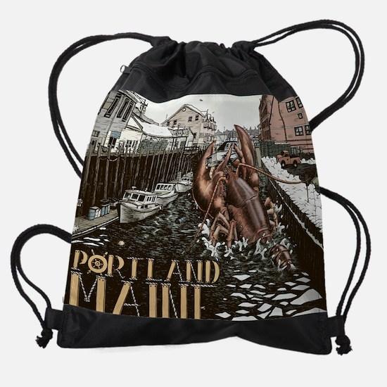 lobster attach.jpg Drawstring Bag