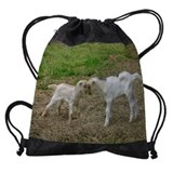 Baby goat christmas Drawstring Bag