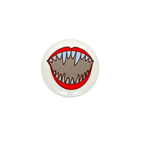 Vampire Teeth Mini Button (10 pack)